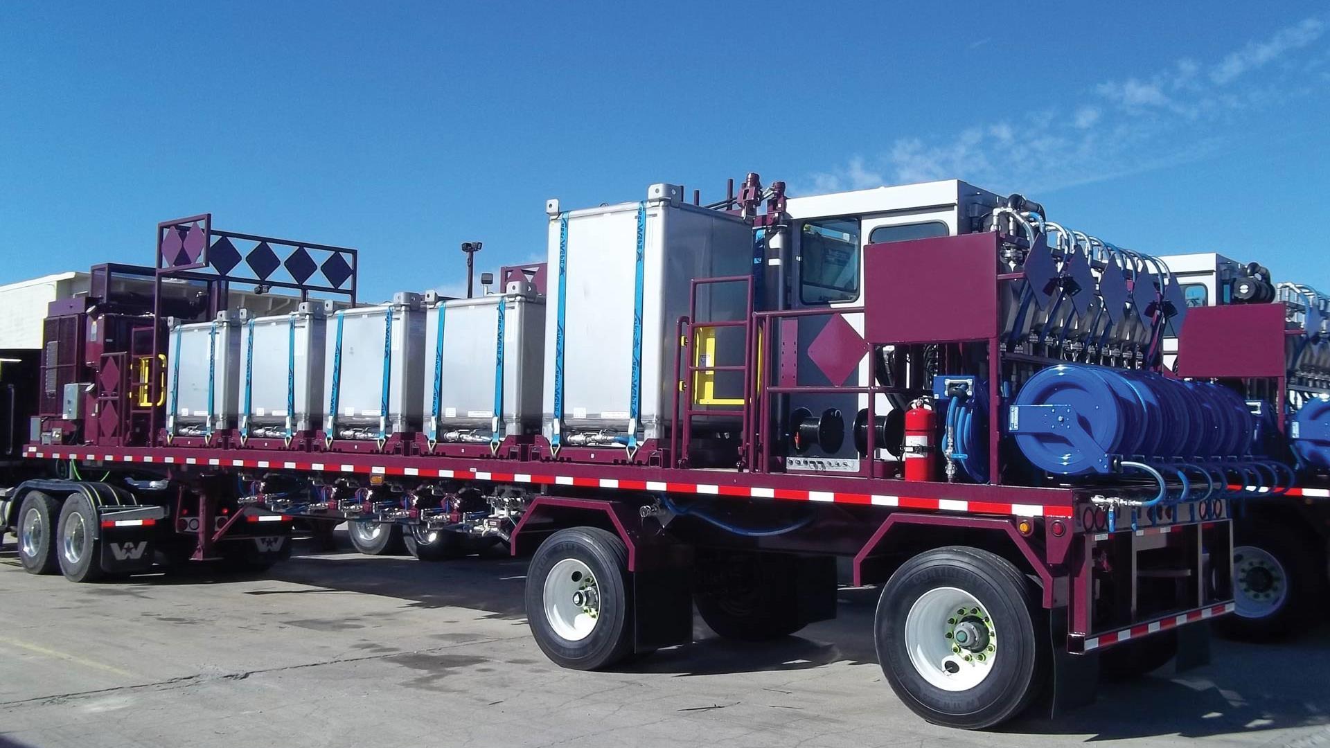 CHEMTRAC liquid additive system controls trailer