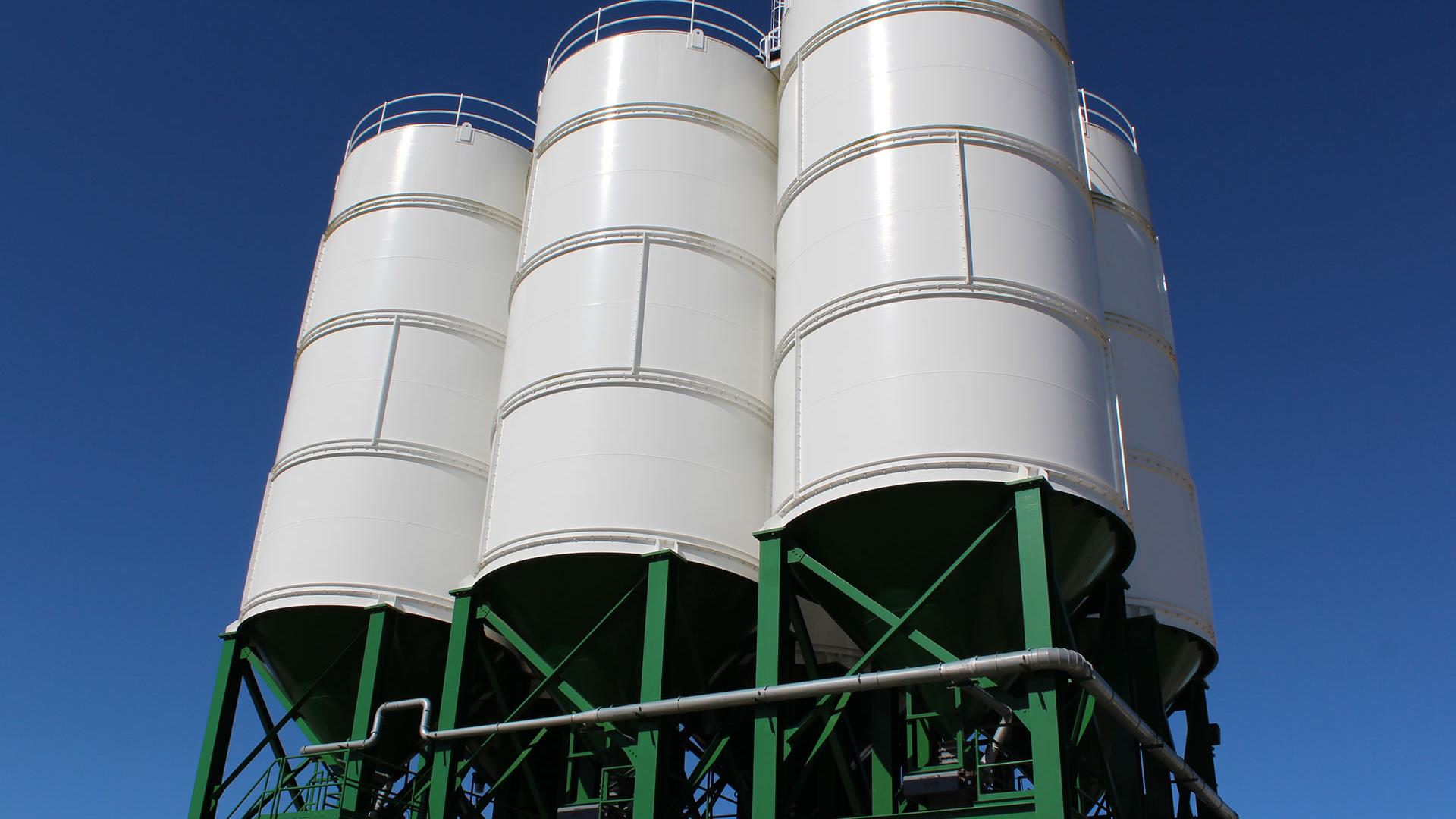 Six APPCO High-volume Storage Silos