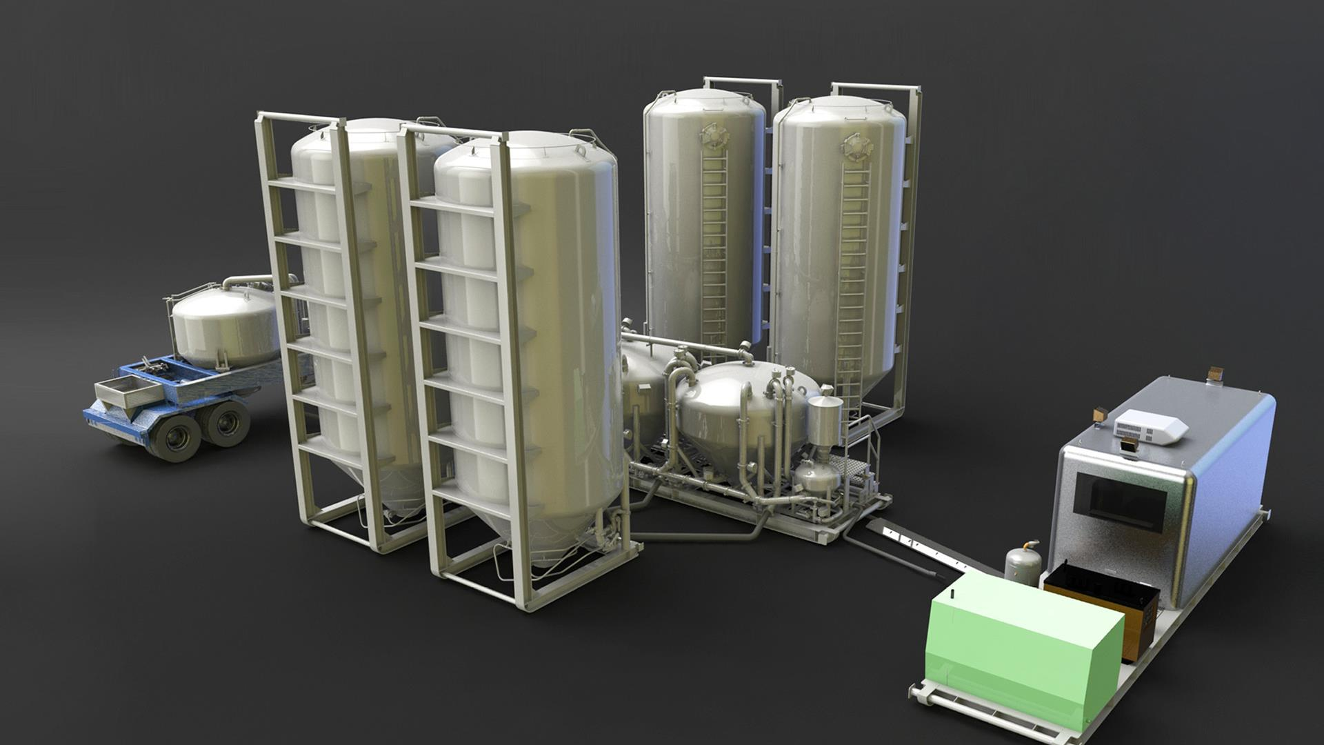 Render of Portable Cement Plant