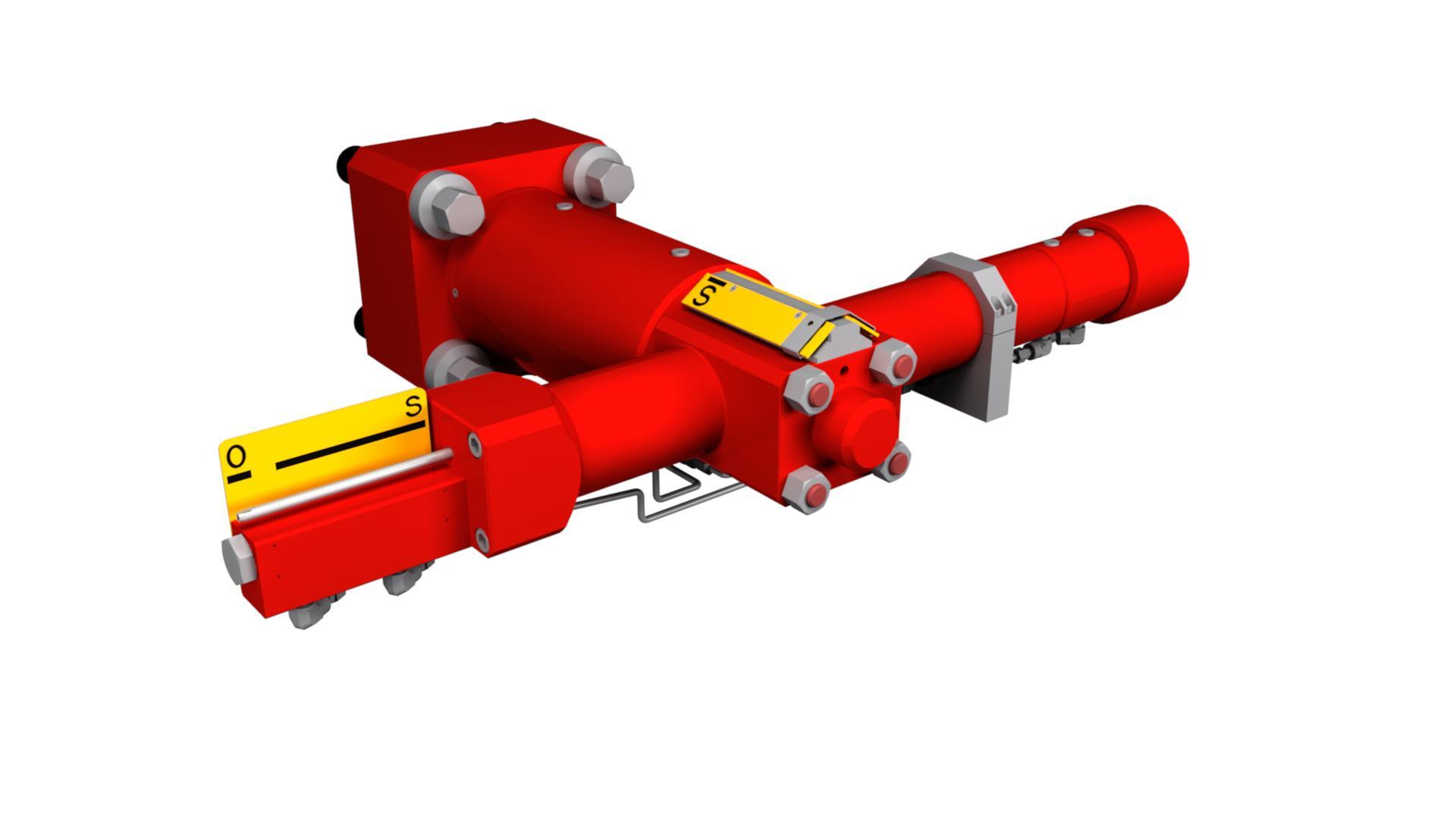 Render of Subsea Actuator