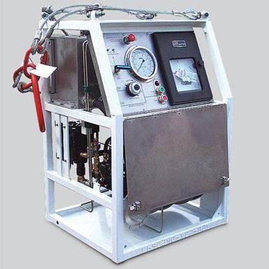 A render of a wireline 700 series pressure test unit