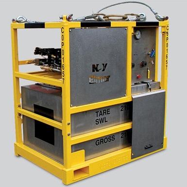 A render of a wireline 900 series pressure test unit