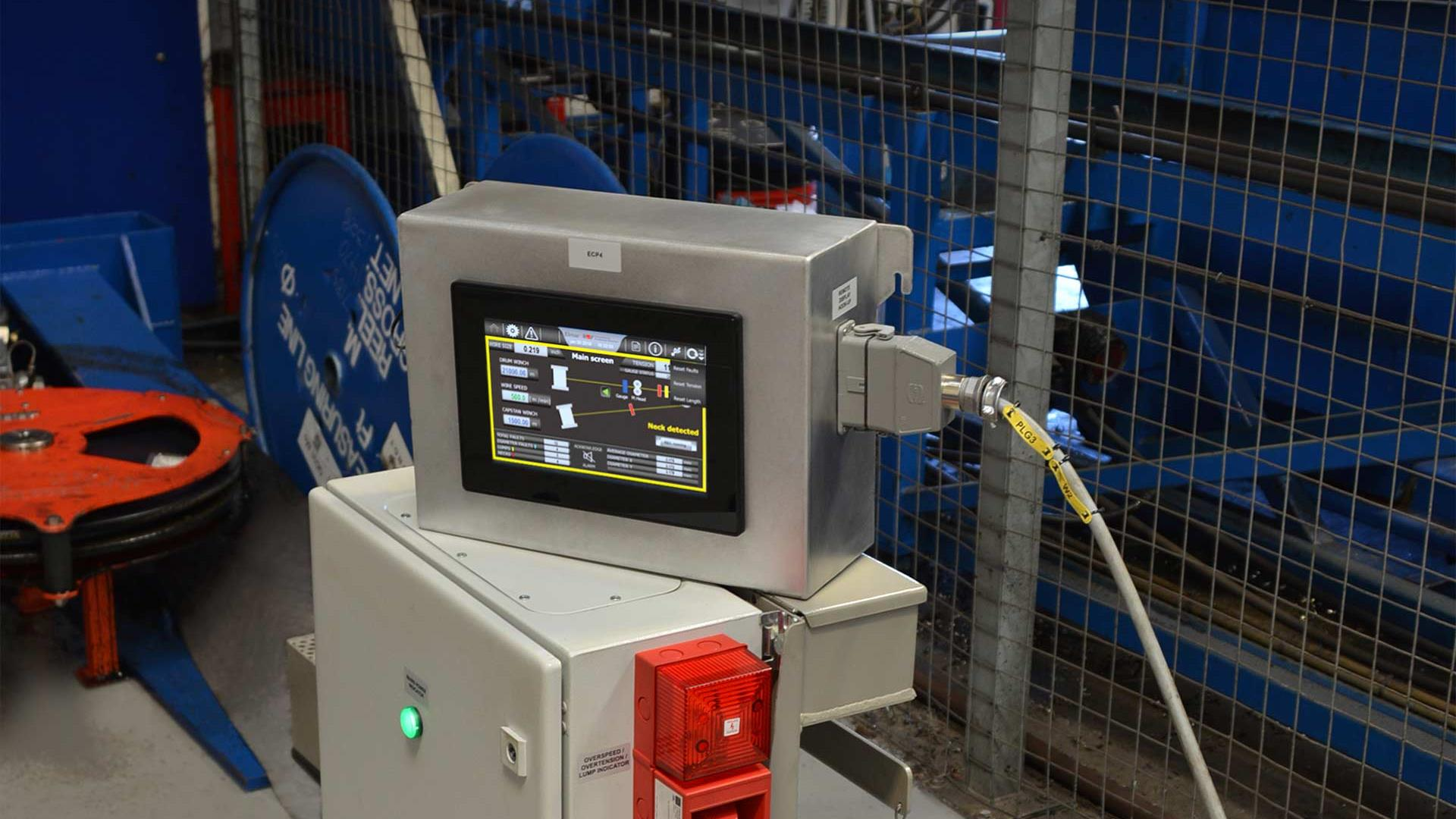 A WireRight Monitoring and Recording System with a screen