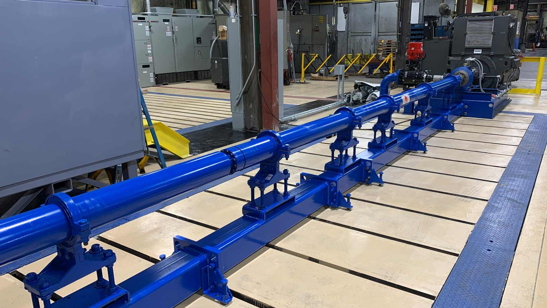 Horizontal Surface Pumping System in warehouse