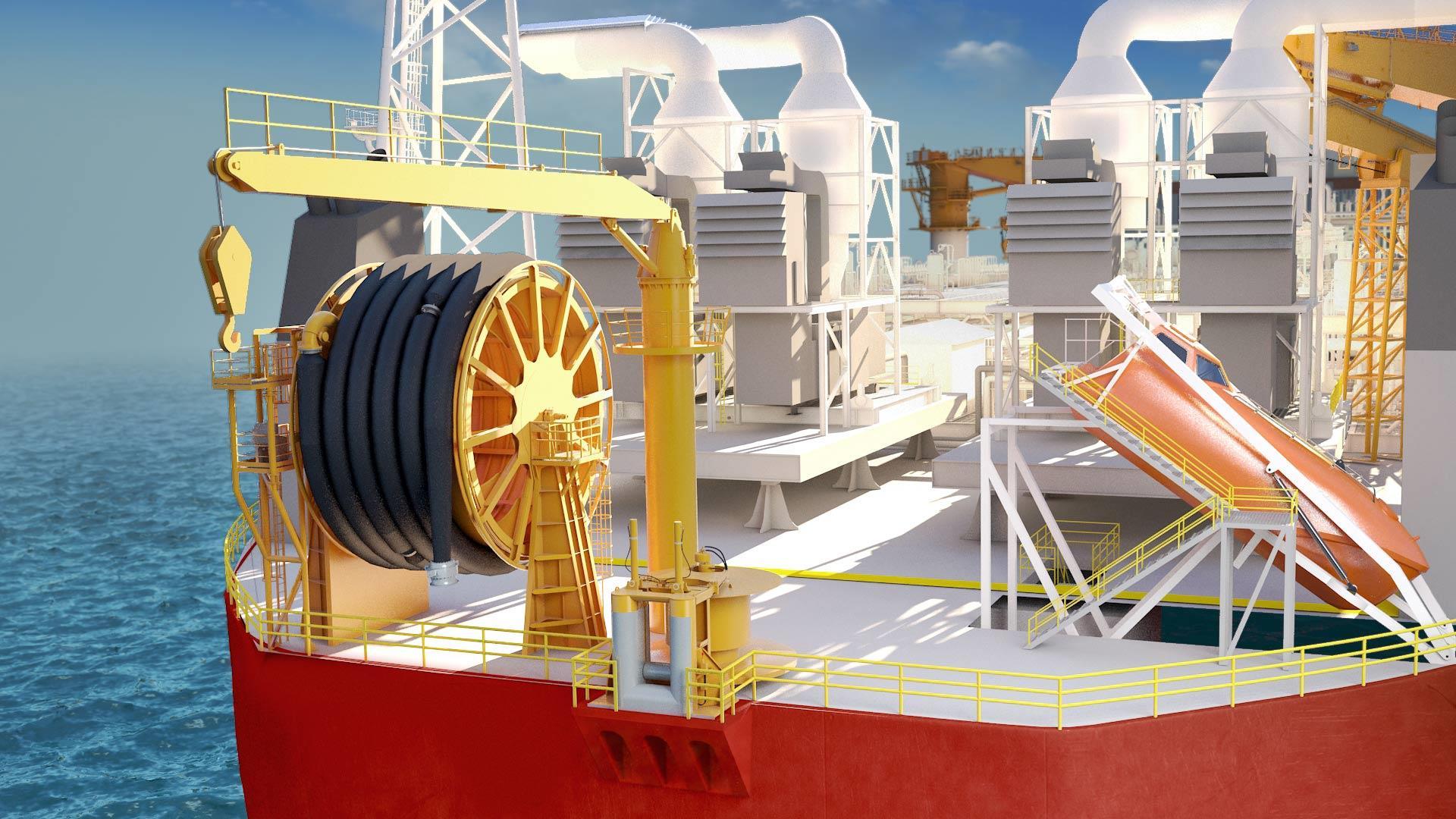 APL Stern Discharge System render