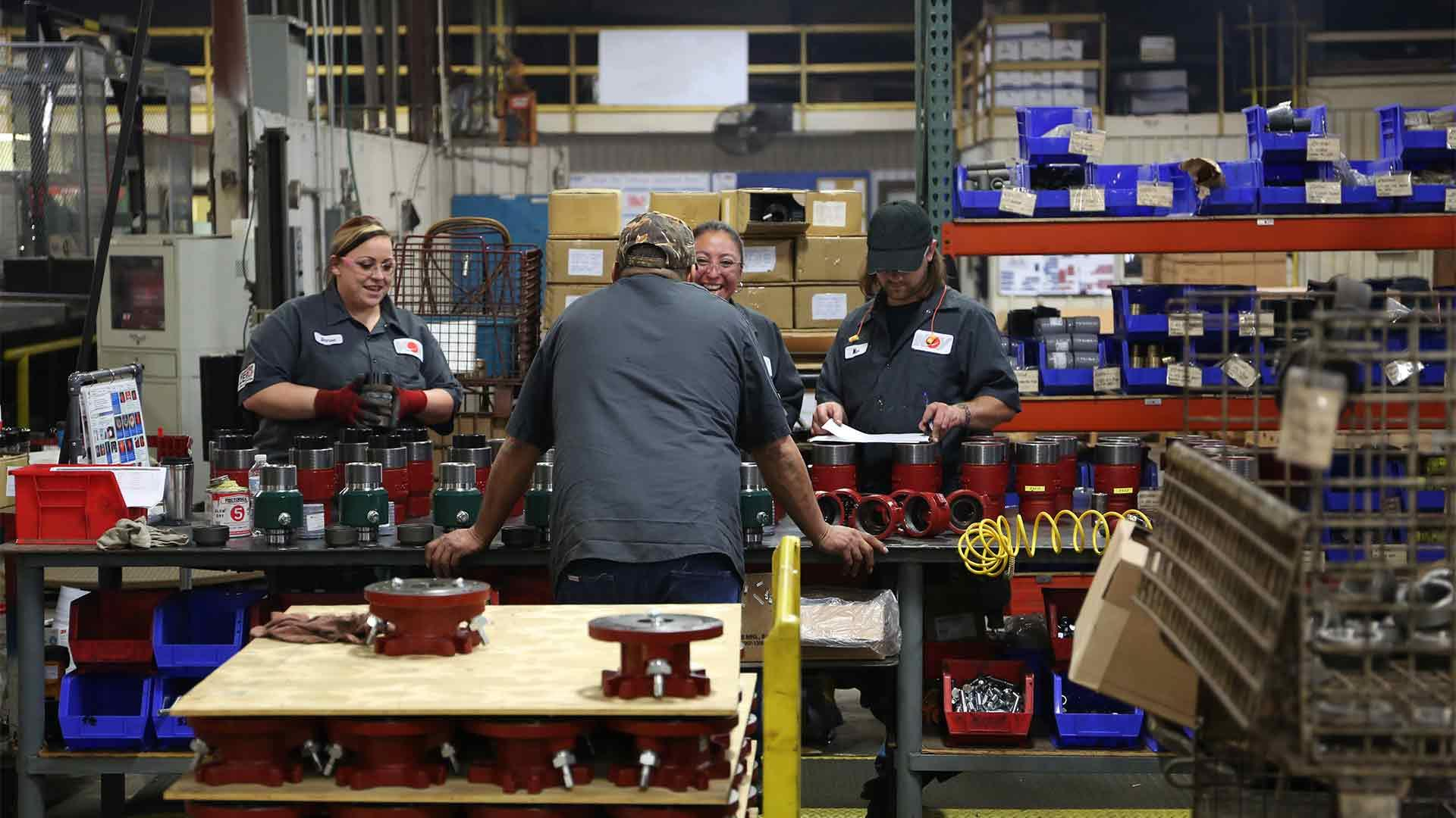 Hercules Tubing Heads in production facility