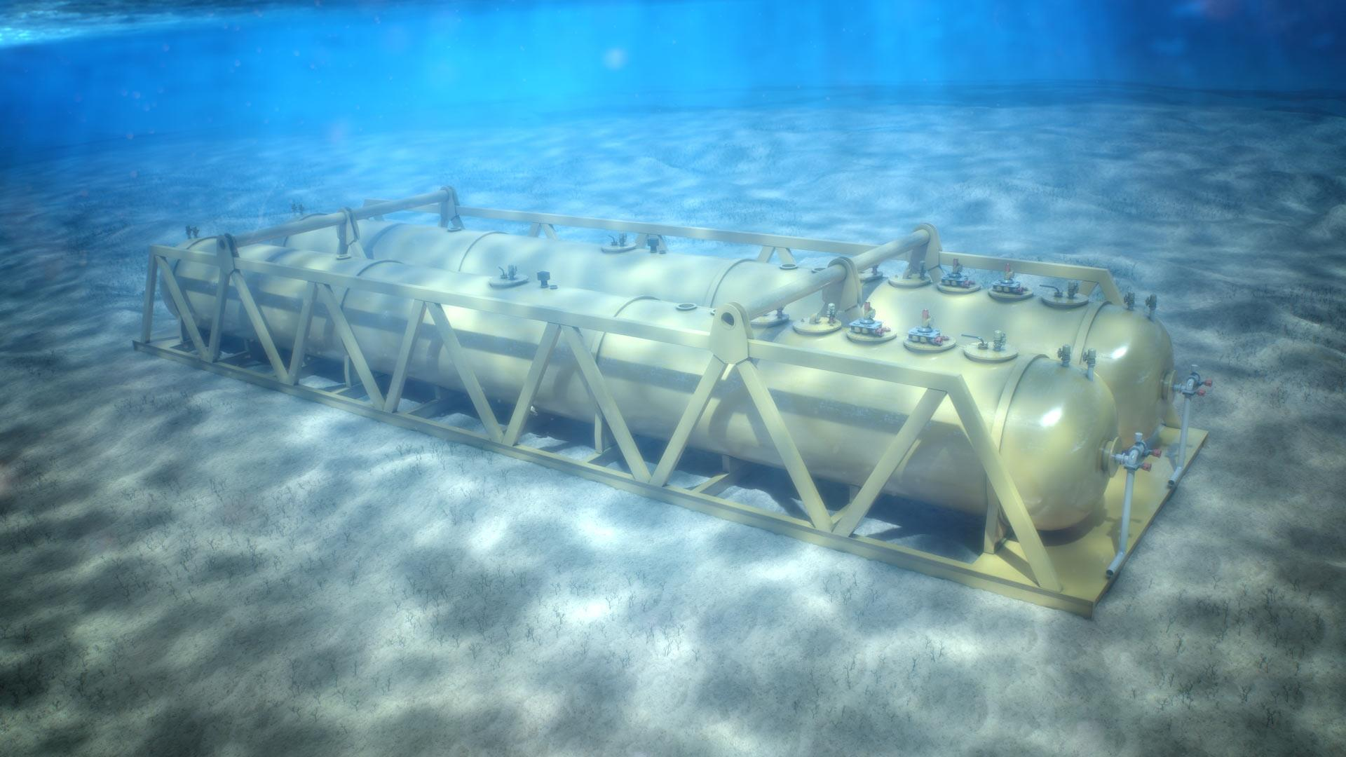 Underwater view of Subsea Produced Water Treatment