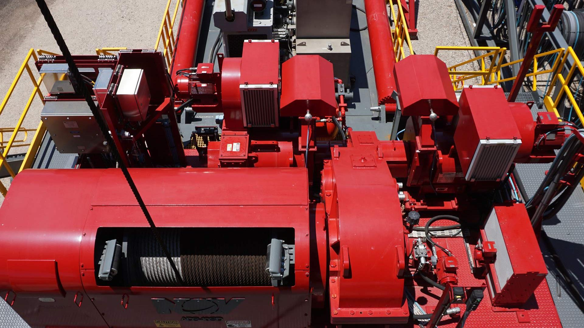 ADS-10SD drilling drawworks and hoisting system equipment top view