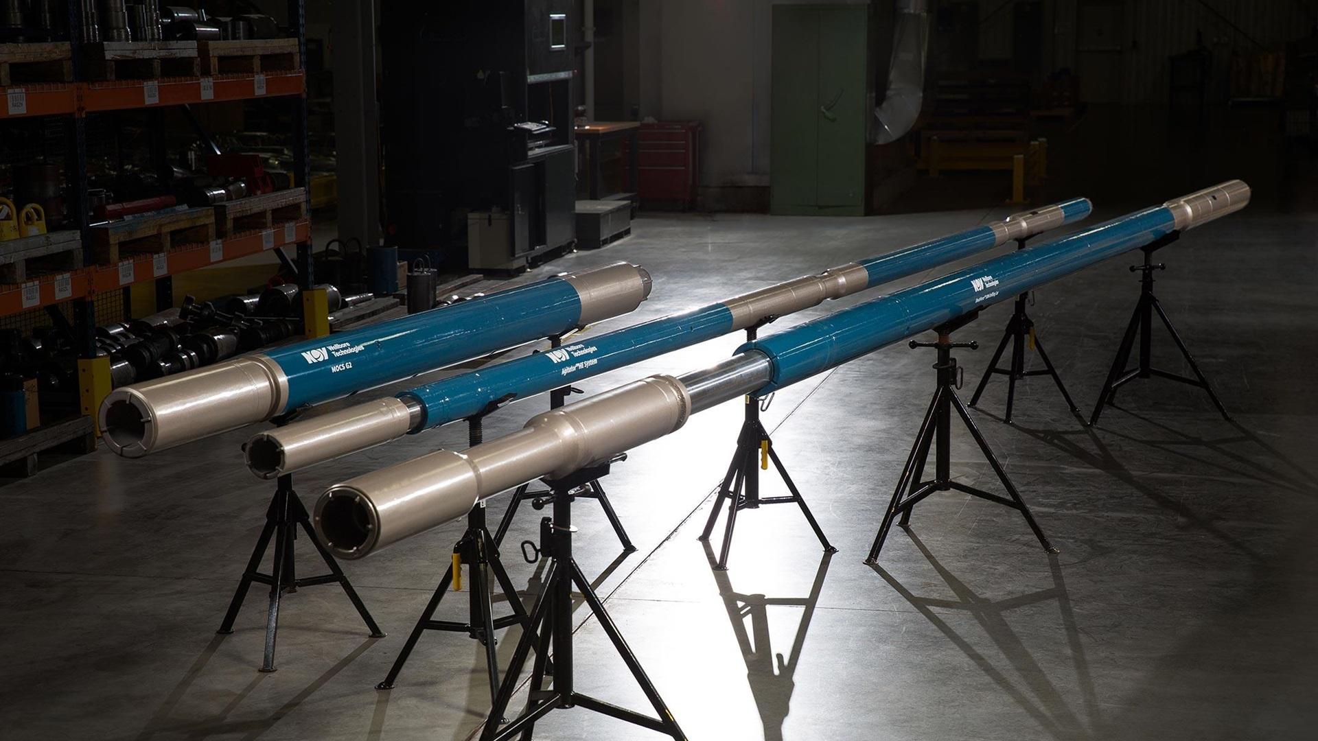 Full size wide shot of ShockForce Drilling Jars on tripods