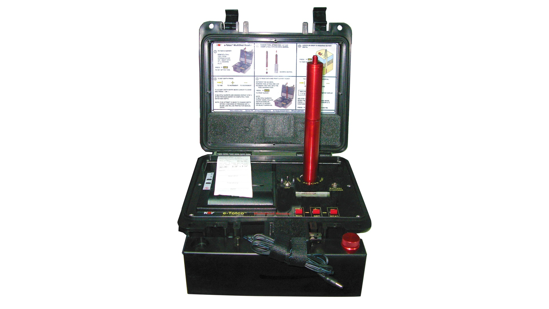 Render of E Totco  Electronic Drift  Survey Tool