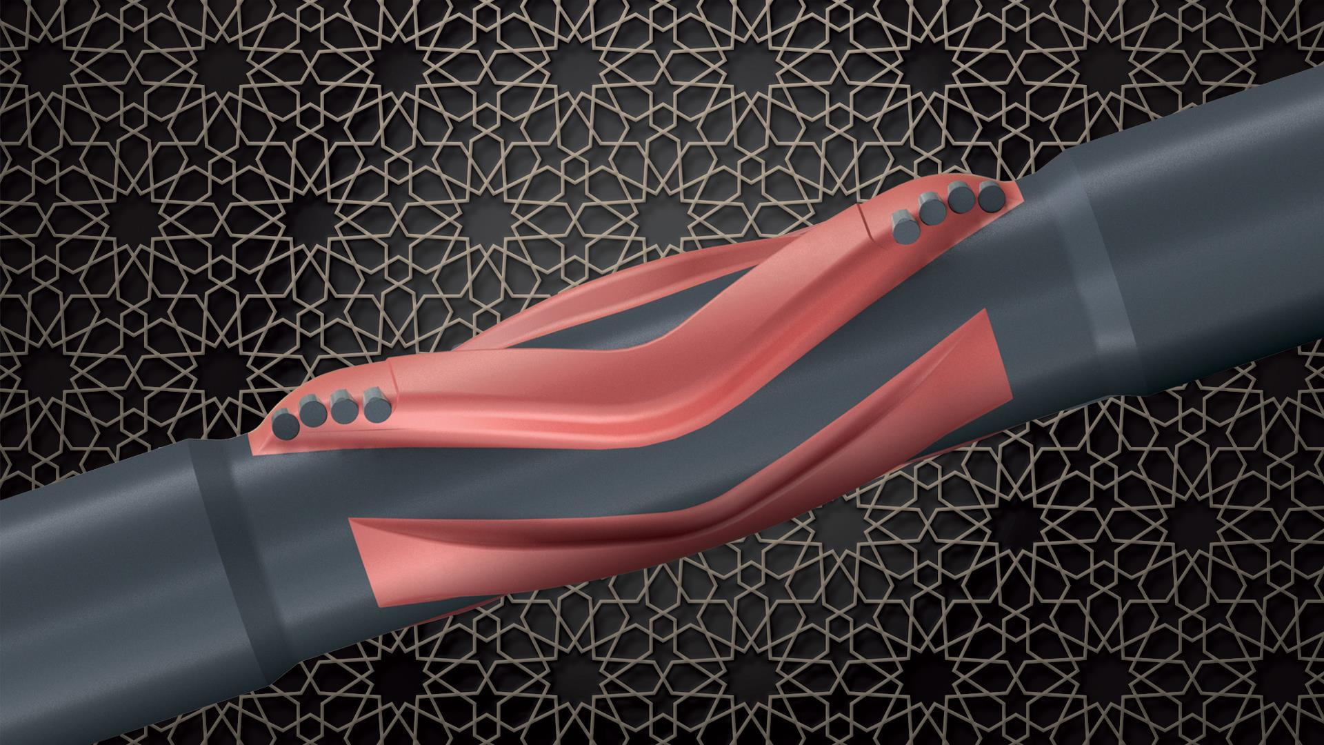 3D render of the Falcon Reamer against a stylized background