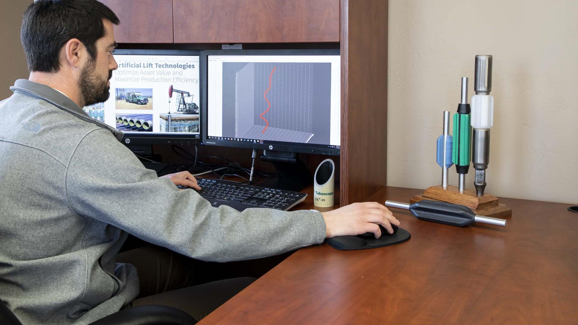 Rod Guide Advisory Program (RGAP) on computer