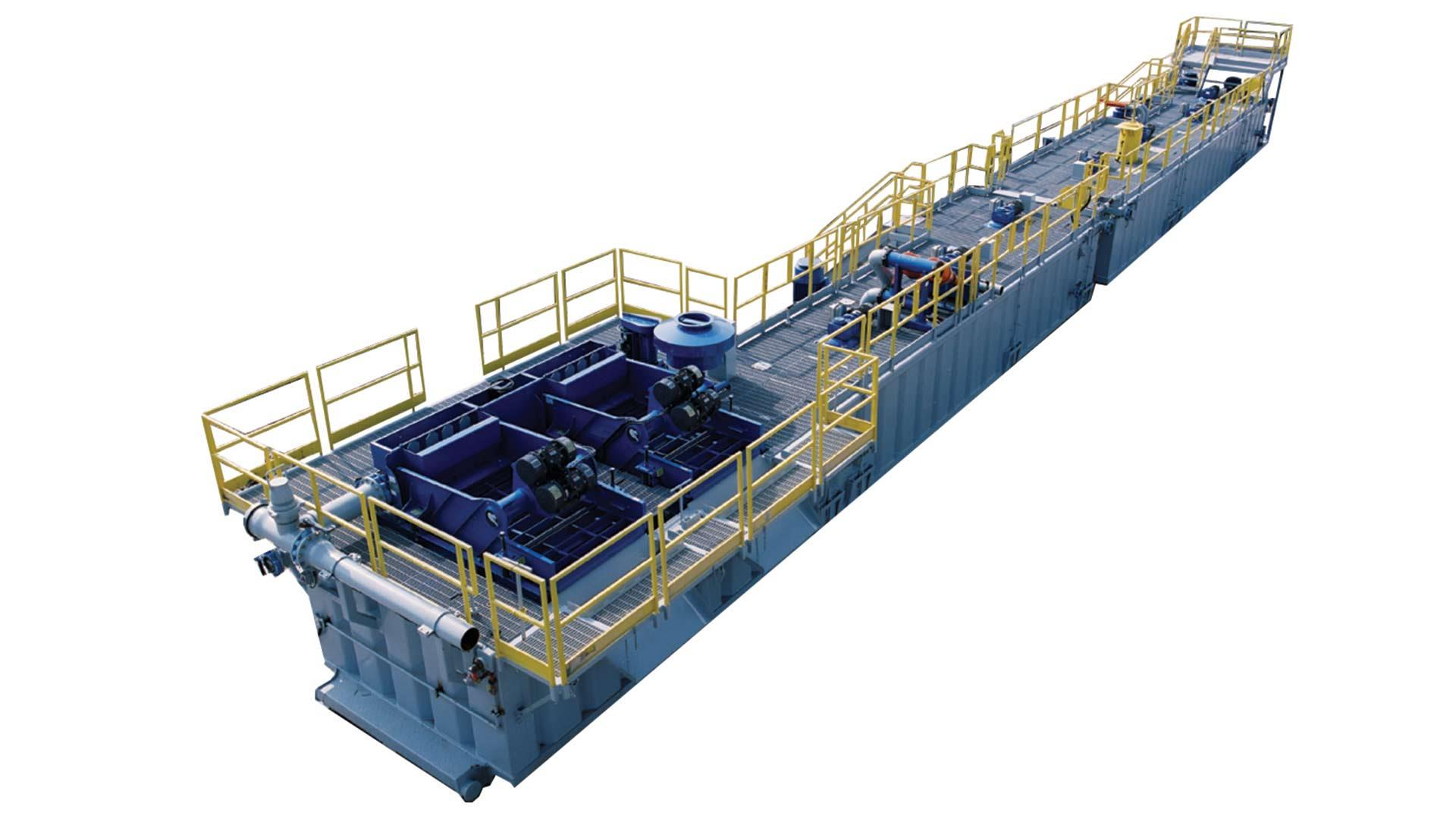 A render of a BRANDT Rapid Mud Tank System