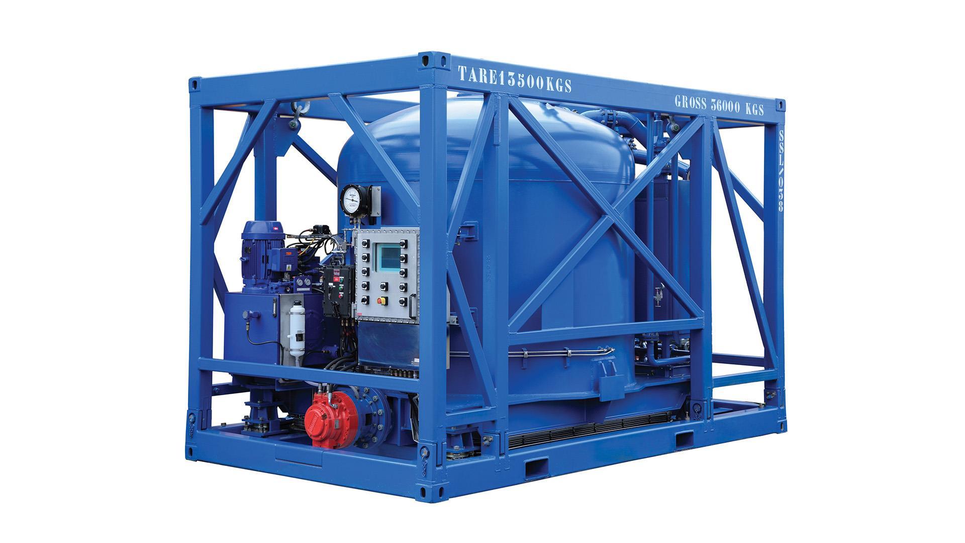 Render of Slider Storage and Discharge Vessels