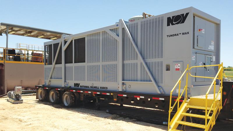 A Tundra Max mud cooler on site