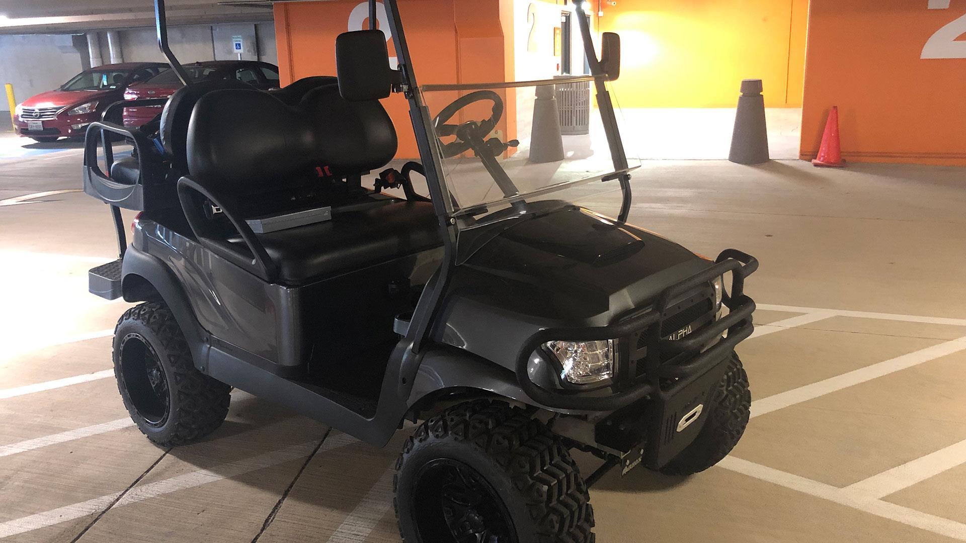 Luxury golf cart