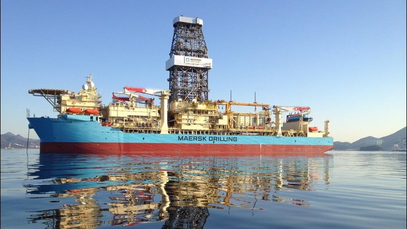 Maersk Voyager Drilling Ship