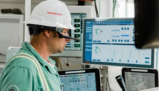 Our TrackerVision real-wear technology and service on the Precision Drilling Rig 577