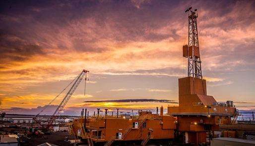 Arctic drilling rig in the Dreco rig-up yard in Nisku, Alberta, Canada