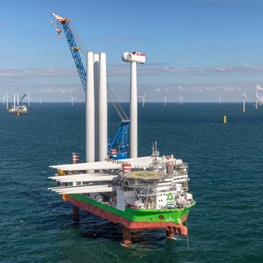 Sea Installer Challenger at Borssele offshore wind farm