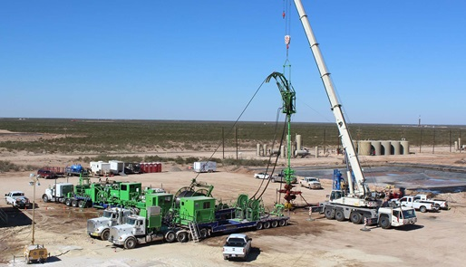 HydraRig equipment in use at the drill site