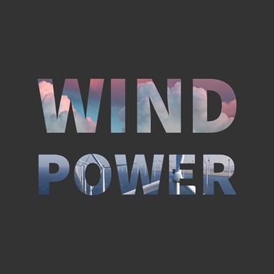 Wind Power word art