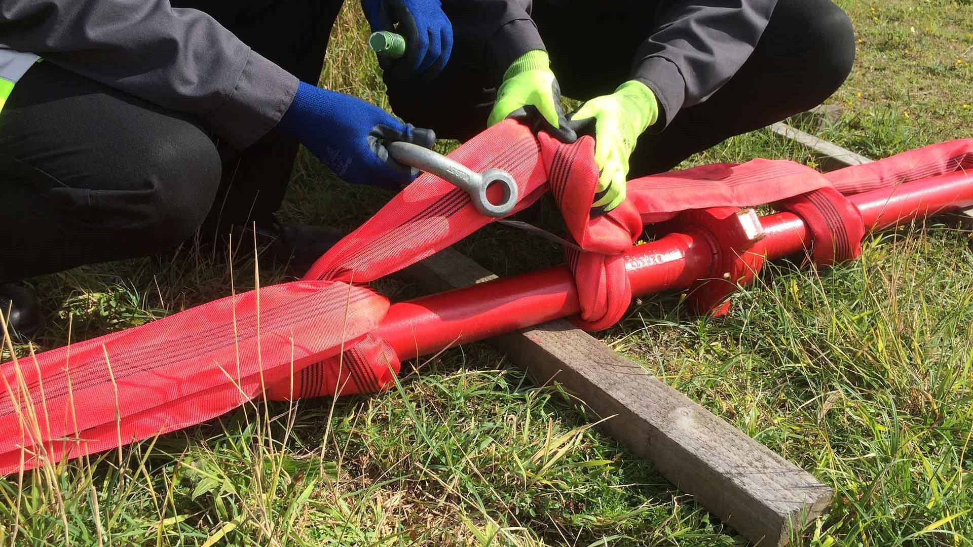 Anson Flowline Restraint in use in the field