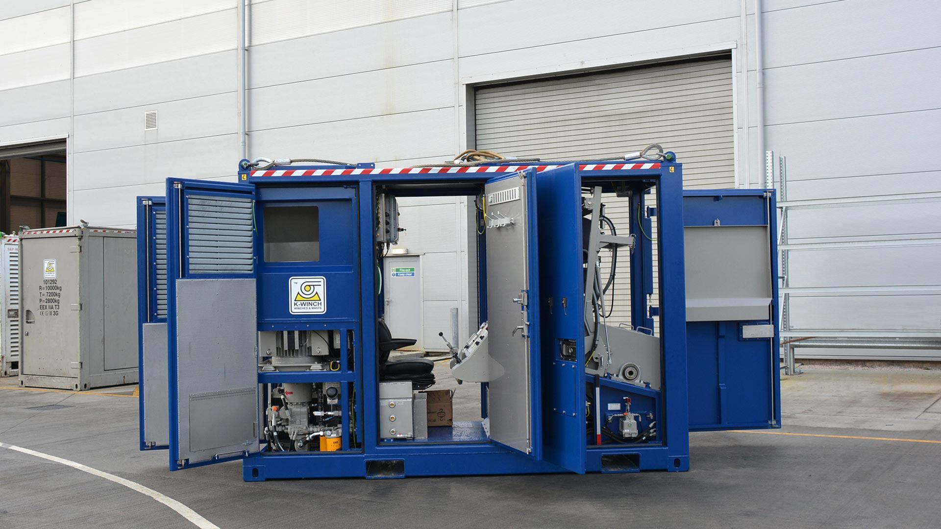 SlimLine Wireline Winch Unit Open Doors