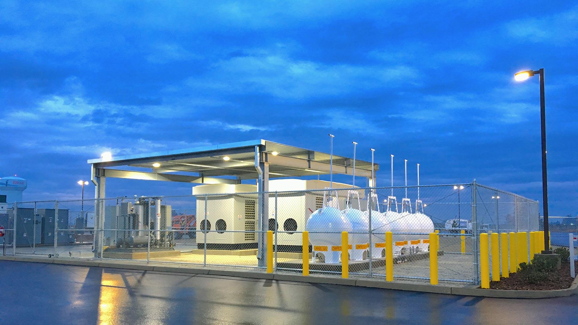 CNG Spheres at Station