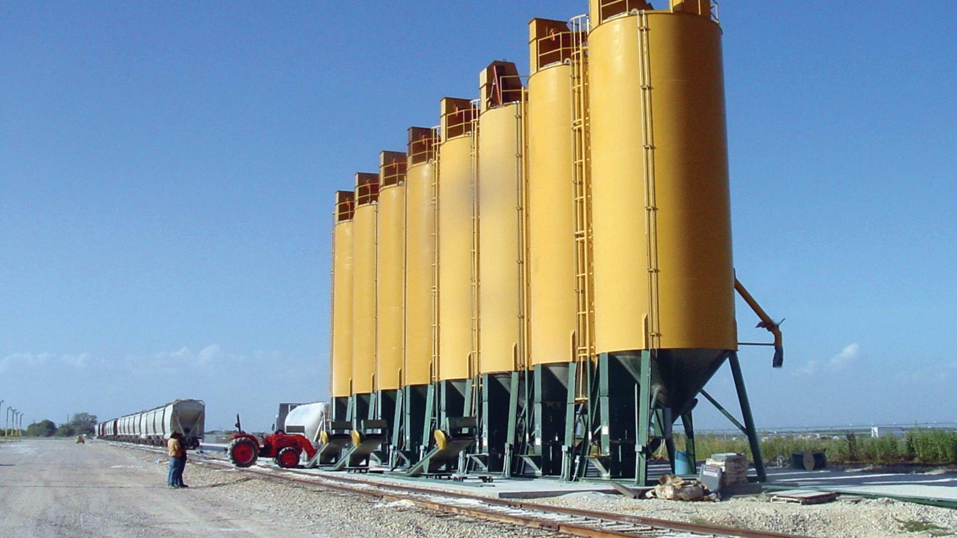 A row of storage APPCO E-Tanks