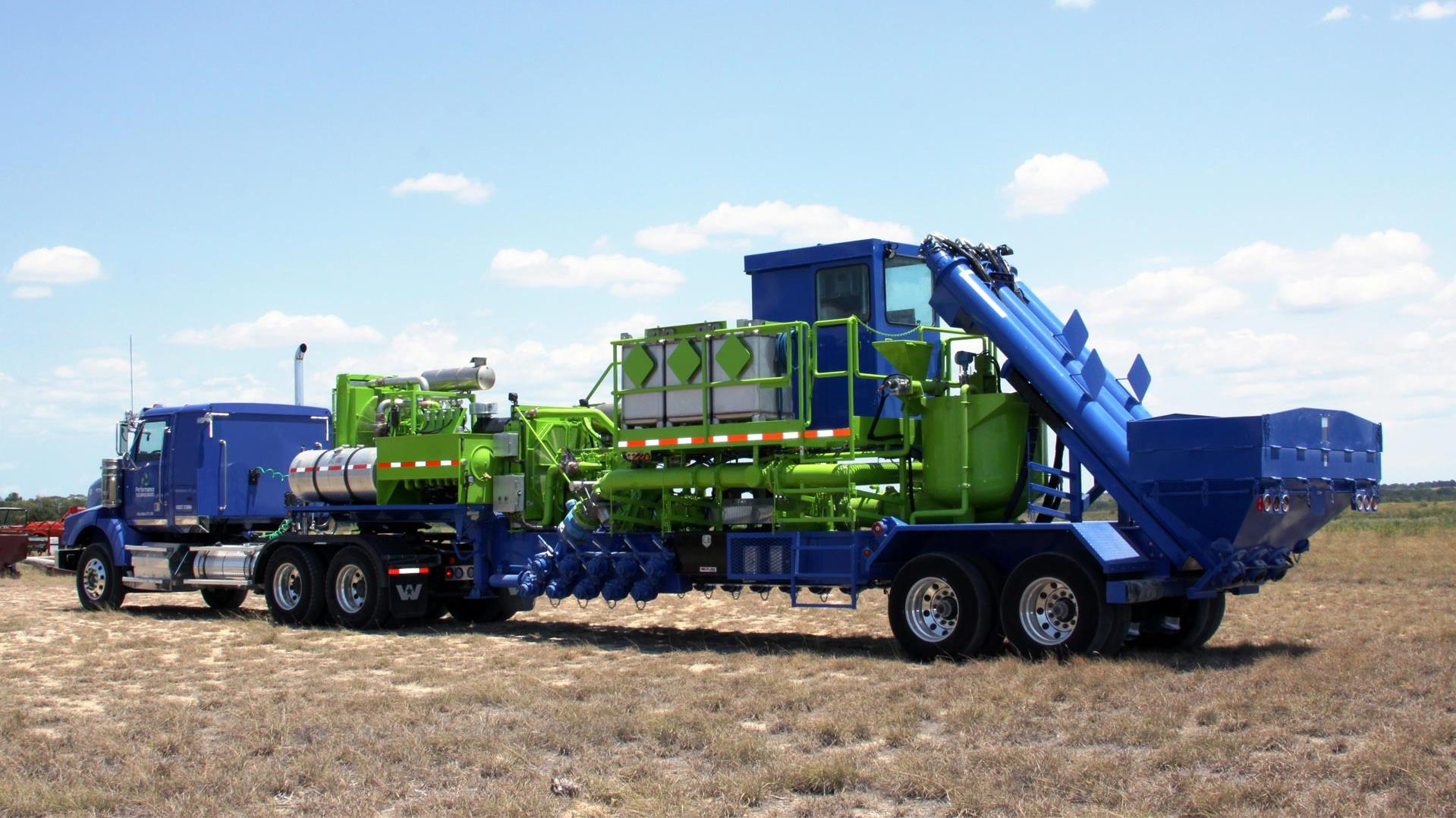 Trailer-mounted Frac Blender