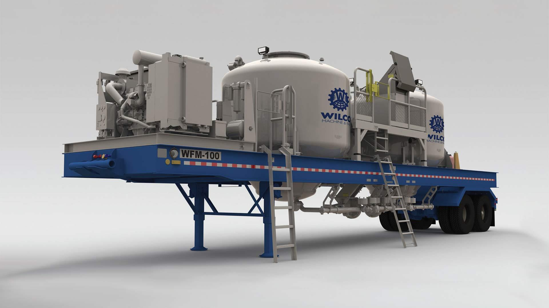 Render of Frac Fluid Mixer Trailer