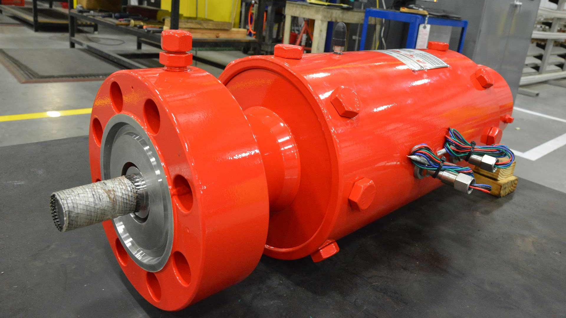 A Frac Flowback Shutdown Valve in a manufacturing facility