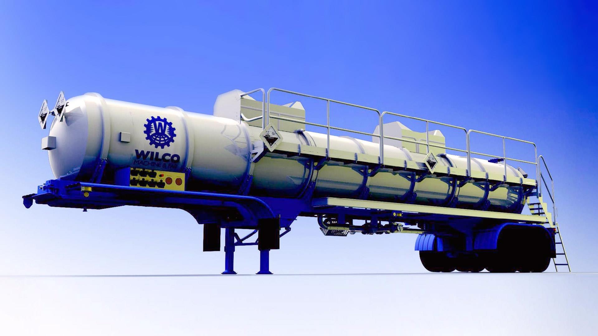 Render of Wilco Friction Reducer Transport Trailer