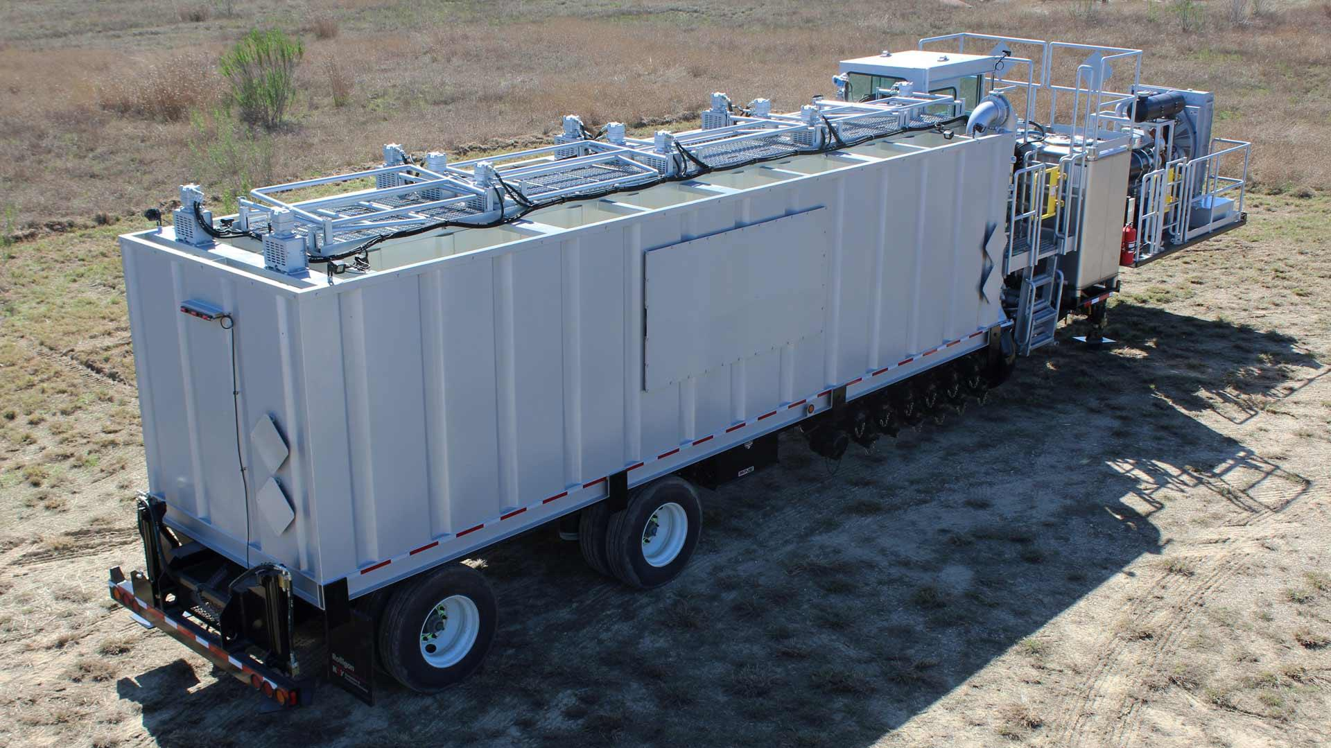 Aerial view of a Trailer-Mounted Hydration Unit