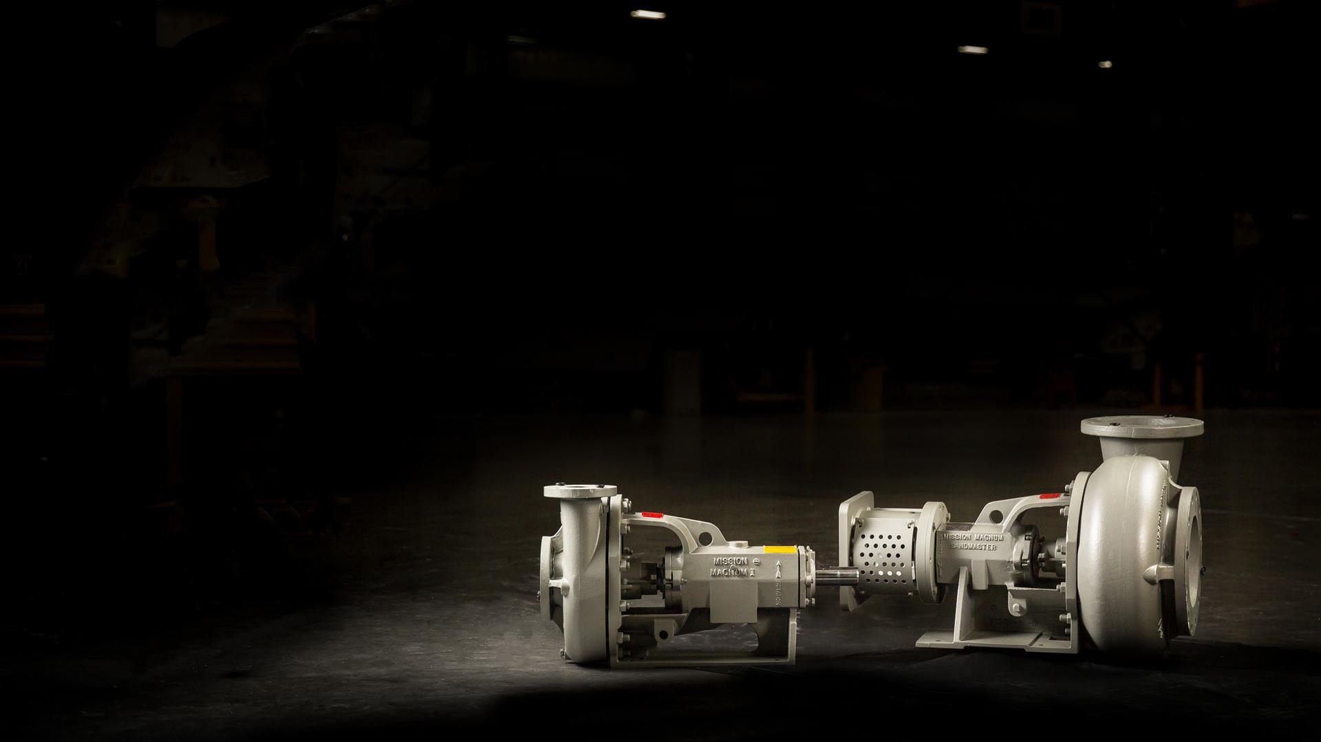 MISSION Sandmaster Centrifugal Pump in empty warehouse