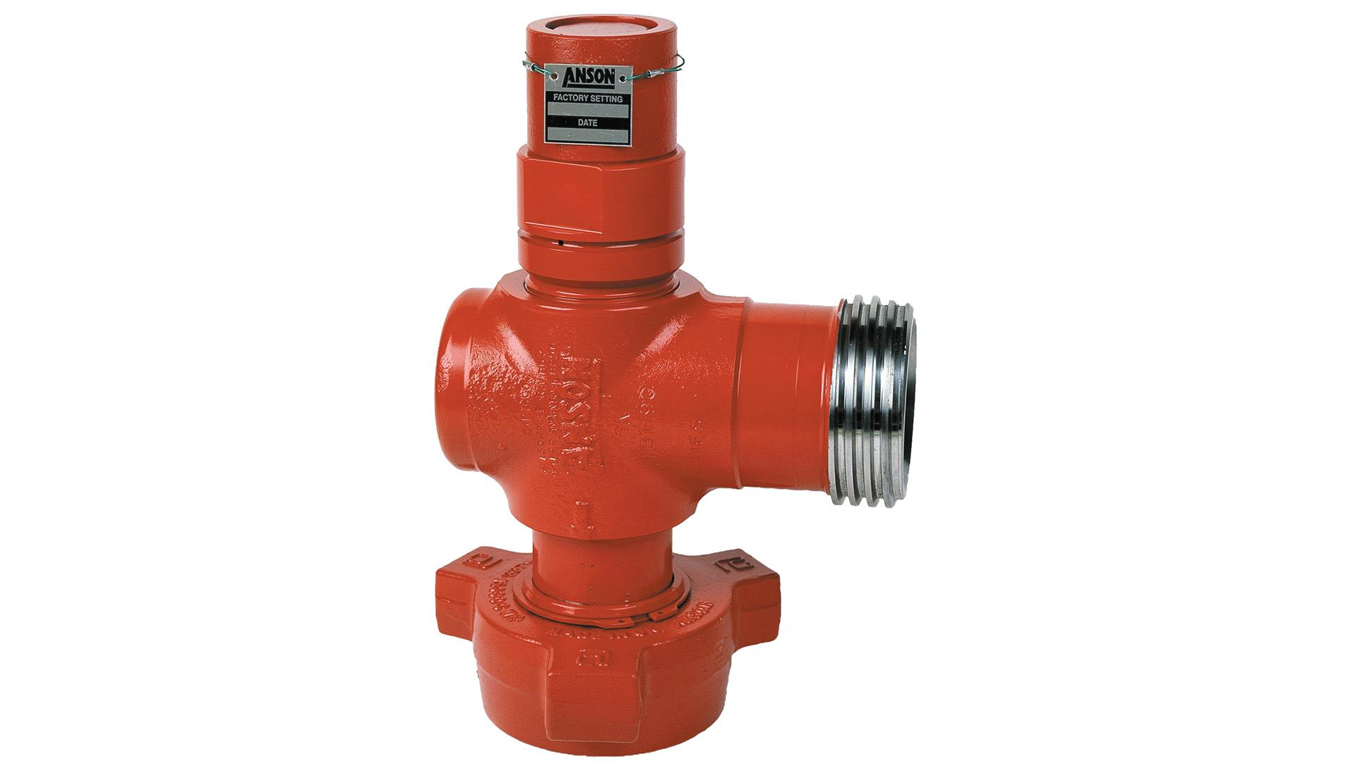 Image of a red pressure relief valve