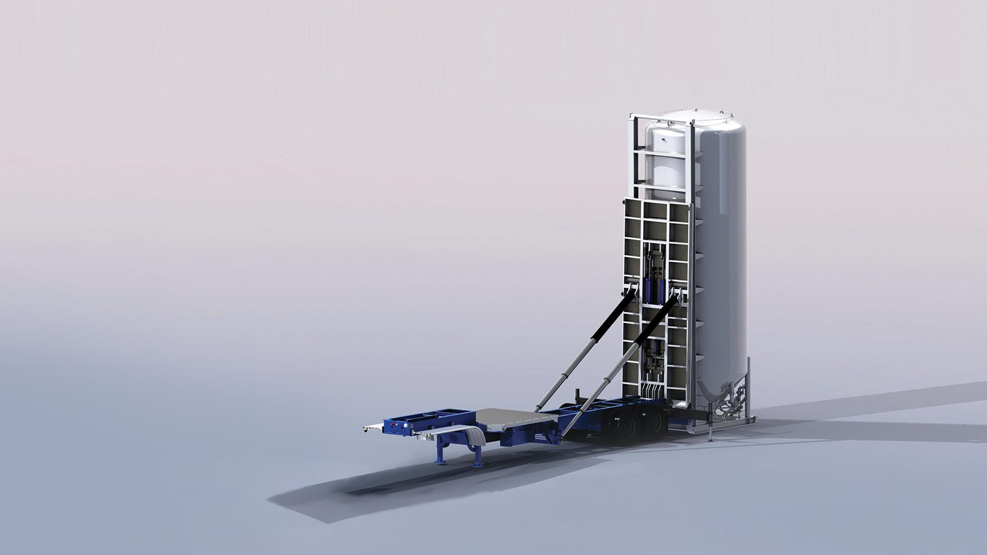 Render of Silo Setter Trailer