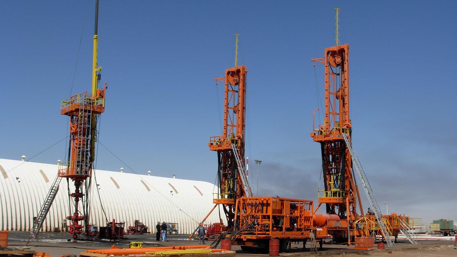 Hydra Rig Snubbing Unit on site