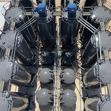 An aerial view of a Stationary Cement Plant