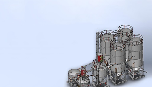Render of Stationary Cement Plant