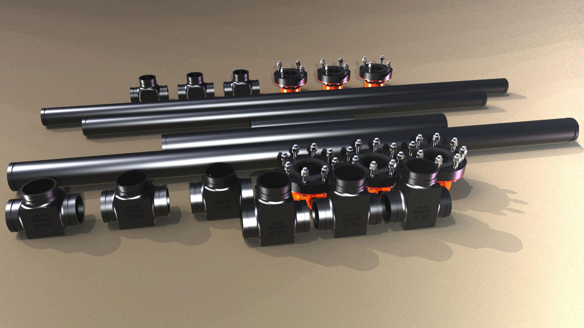 Render of UHMW Manifold Kit