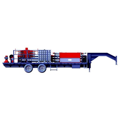 A render of a WPCE Trailer as part of the Wireline Frac Solutions line