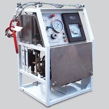 A render of a wireline 700 series pressure test unit