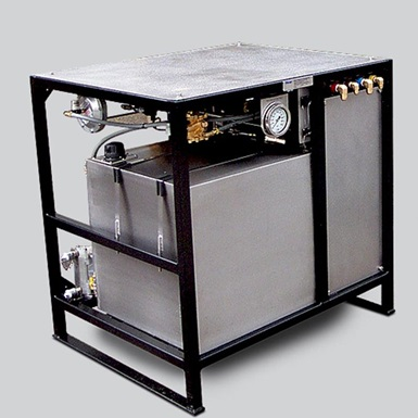 A render of a wireline Maxsafe workshop pressure test unit
