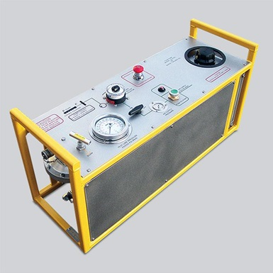 A render of a Wireline portable glycol injection and pressure test unit