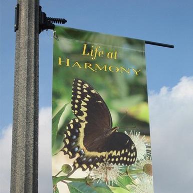 Orlando BB01 pole banner brackets