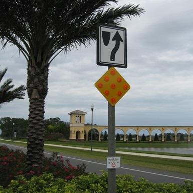 Decorative street sign pole
