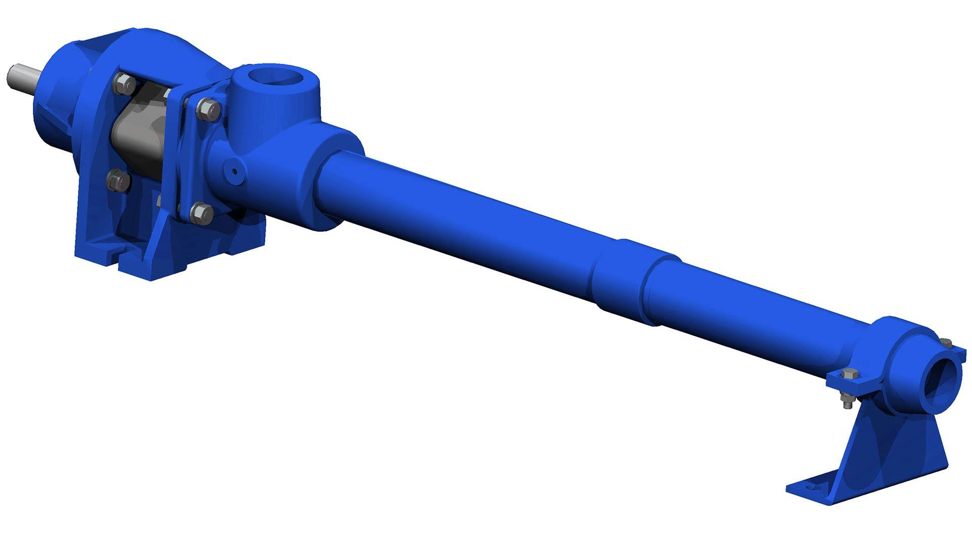 Render of a Agricultural Surface Pump on a white background.