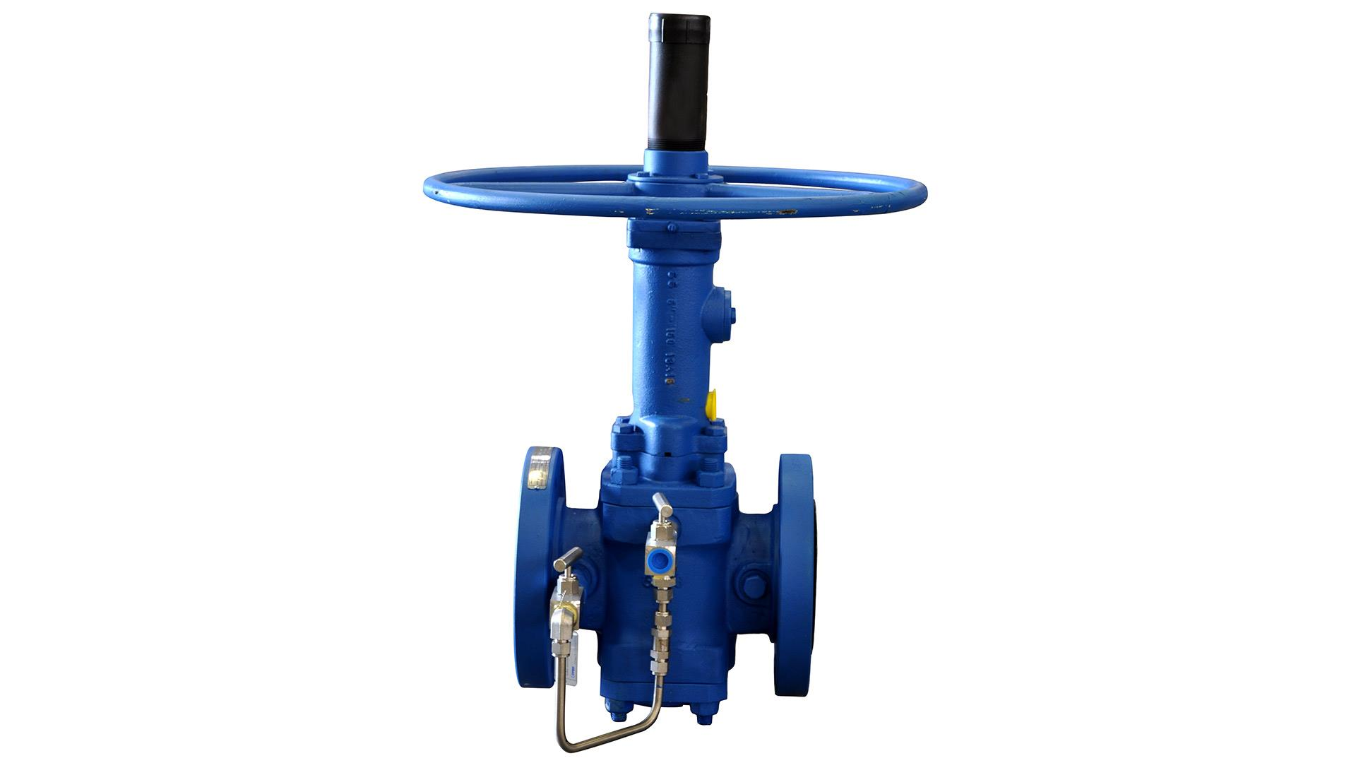 A render of an Expanding Plug Valve